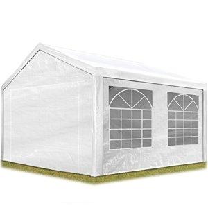 TOOLPORT Tente de réception 3×4 m pavillon Blanc bâche PE épaisse de 180 g/m² imperméable Tente de Jardin