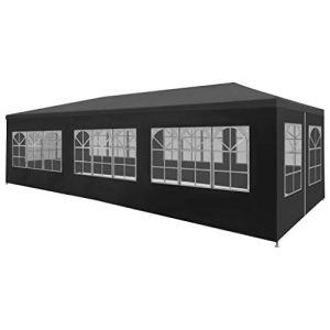 vidaXL Tente Réception 3×9 m Anthracite Jardin Terrasse Patio Pavillon Tonelle