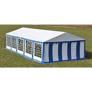Zora Walter Tente de Jardin 100% Polyester étanche Bleu 10 x 5 m