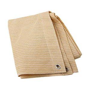 Anuo – Tissu de protection solaire – 85 % polyester – Avec œillets – Pour plantes de jardin, grange, chenil, bâche, Polyéthylène, Noir , 1x2m/3x6ft
