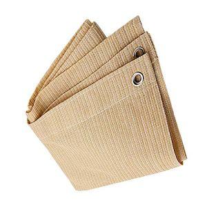 Anuo – Tissu de protection solaire avec œillets – Toile de protection contre le soleil – Pour plantes de jardin, grange, chenil, bâche, Polyéthylène, beige, 1x2m/3x6ft