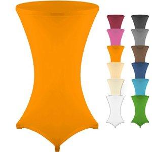 Gräfenstayn Housse pour table mange-debout – Différentes couleurs et 3tailles – Diamètres 60cm, 70cm et 80cm, Orange, Ø 60