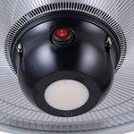 GREADEN – Parasol Chauffant Suspendu Infrarouge Saturn avec Télécommande, Lampe à LED – Chauffage électrique de terrasse à Halogène 2100W Radiateur Jardin/Intérieur