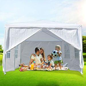ISE 3×6 Tonnelle Tente Gazebo Pavillon de Jardin d'événement pour Fête,Camping,Festival,Bière (Blanc)