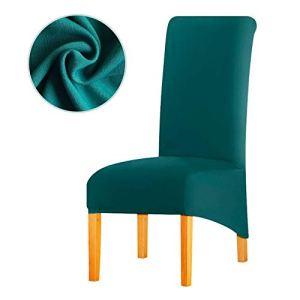 Leorate Housse de Chaise Extensible en Tissu de Grande Taille pour hôtel Bleu Vert 6 pièces