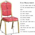 MWPO Housse de Chaise élastique Lavable pour Les Housses de siège latérales de Hauteur comptoir pour Les chaises carrées des hôtels (Couleur: Gris, Taille: 50 Pack)
