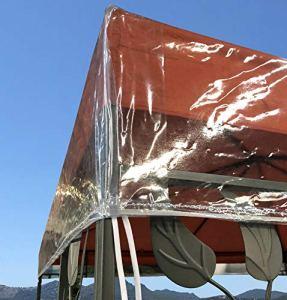 QUICK STAR Gazebo Housse de Protection 3 x 4 m Protection étanche et Transparente Contre Les intempéries