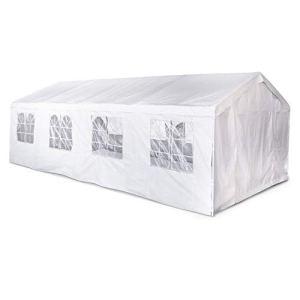 Tente de réception 4 x 8 m – Lutecia – Blanc – Tente de Jardin idéale pour réception à Utiliser comme pavillon, pergola, chapiteau ou tonnelle.