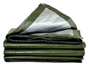 ZX XZ Bâche imperméable Robuste Vert Bâche Conseil de Haute qualité Made Couverture de 200 g / m2 Bâche (Color : Green, Size : 3x4m)