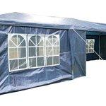 AIRWAVE Tonnelle de réception 3 x 9 m avec 3 Barres Pare-Vent Uniques et Panneaux latéraux 120 g Imperméable 9mtr x 3mtr Bleu