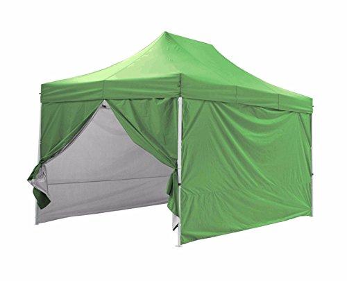 GREADEN – Tente Pliante avec 4 Murs Amovibles 3x3m / 3×4.5m Premium Light – Tube 32mm en Acier – Bâche 420D – Barnum Pliante – GR-1FAM33/345420AO (3 * 4.5, Vert)