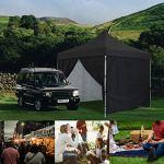 GREADEN – Tente pliante avec 4 murs amovibles 3x3m / 3×4.5m PREMIUM LIGHT – Tube 32mm en acier – Bâche 420D – Barnum pliante – GR-1FAM33/345420AO (3*3, Noir)