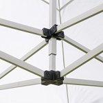 Tente pliante 3×6 M en Acier et Polyester 350g/m² Tonnelle pliante Chapiteau Barnum avec les 4 côtés bâches (incluant une porte)