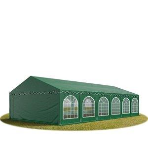 TOOLPORT Tente Barnum de Réception 6×12 m Premium Bâches Amovibles PVC 500 g/m² Vert Fonce + Cadre de Sol Jardin INTENT24