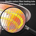 Heater Extérieur Chauffe, Parasol Chauffant Electrique Protection Contre la Surchauffe et Le Basculement, Patio de Jardin 2200W / 3000W Paramètres a 3 Vitesses