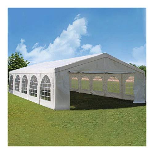 5×10 m Blanc Tente de réception avec Toile Hydrofuge Robuste pour fête extérieur
