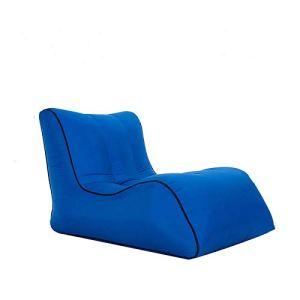 Canapé gonflable pour voyage, camping, plage, pique-nique, jardin – Bleu foncé