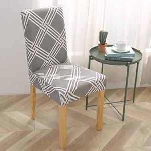 Ruiyun Housse élastique pour chaise de salle à manger – Housse de chaise de maison ou d'hôtel – Housse de chaise élastique une pièce
