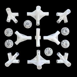 Shinekoo Lot de 15 pièces de rechange pour tonnelle 3 x 6 m avec connecteurs centraux de 25 x 19 mm