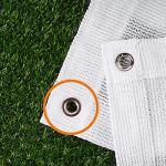 WXQIANG Tissu d'ombrage, résistant aux UV pour piscines, jardin, terrasse, auvent, protection solaire, différentes tailles, isolation thermique, (couleur : blanc, taille : 3 x 6 m)