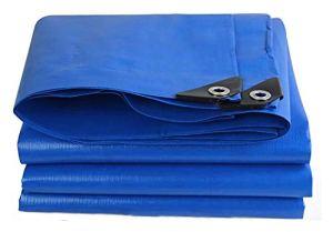 XWZH Feuille de bâche Universelle Outdoor Heavy Duty Bâche Camping; imperméable Anti-Pluie résistant à l'usure Revêtement de Sol Toit Couverture Jardinage Bleu Bâche (Color : Blue, Size : 5x10m)