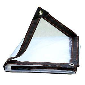 Bâche Anti-Pluie Transparente d'isolation imperméable imperméable de bâche extérieure, Personnalisation (Color : Clear, Size : 4X8M)