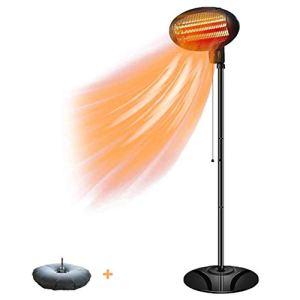 GOFEY° Parasol Chauffant Chauffage de terrasse Parasol,Chauffage électrique extérieur de 1500W Économie d'énergie 40% -60%,pour Radiateur Jardin/Patio/Intérieur