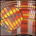 L&T Plancher Debout Radiateur Infrarouge Imperméable,Rétro Chauffe-Espace pour La Maison Jardin,électrique Parasol Chauffant De Terrasse Chauffage Extérieur 3 Engins-Noir
