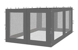 QUICK STAR 4 panneaux latéraux avec moustiquaire 300x195cm Anthracite pour gazebo 3x3m