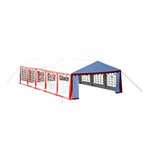 Tidyard Toile de Rechange pour Tente de Réception 10 x 5 m en Rouge et Blanc