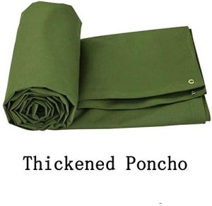 ZX XZ Toile Bâche Bâche Poncho Voiture Tissu extérieur épais Crème Solaire Poncho Tarp Truck Couverture Sunscreen (Color : Green, Size : 3x4m)