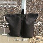 ABCCANOPY Lot de 4 sacs de poids de qualité industrielle pour tonnelle pliante 1-Noir