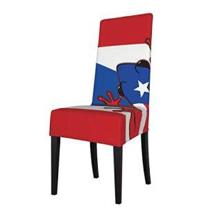 Black1 Housse de chaise de salle à manger Motif drapeau de la Jamaïque Géométrique Grille Super Fit Housse Amovible Lavable pour Hôtel Salle à manger Fête