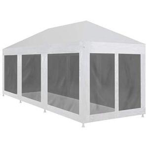FAMIROSA Tente de Réception avec 8 parois en Maille 9 x 3 m111