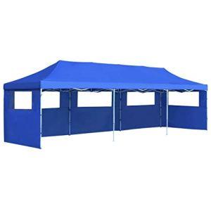 FAMIROSA Tente de Réception Pliable avec 5 parois 3×9 m Bleu978