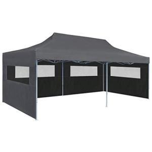 FAMIROSA Tente de réception Pliable avec parois 3 x 6 m Anthracite4966
