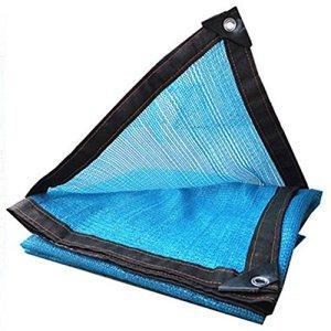 Filet de masquage 6 Points de Suture Cryptage Piscine Camping en Plein air Tissu écran Solaire Bleu, 23 Tailles (Color : Blue, Size : 3X4M)