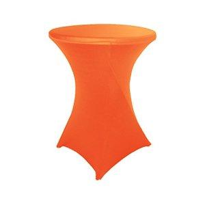 HAORUI Housse de Table en élasthanne Lycra 60 cm pour Cocktail et – Rond – pour fête de Mariage – 60 cm – Orange