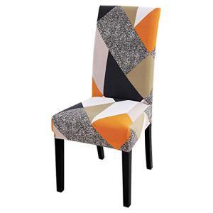 Housses de chaises de salle à manger 1/2/4 / 6Pcs imprimé élastique salle à manger siège chaise couvre Spandex housse de chaise housses extensibles pour la décoration de fête de Banquet de mariage