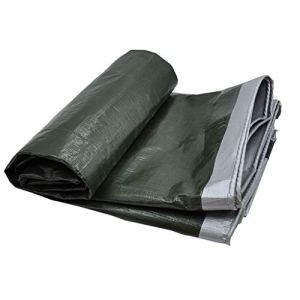 HQQSC Tarpauline imperméable, PVC Lumière Crammine cramponnée Toile de Crampon de carport en Plein air Tarpaulin de Jardin de pêche hamac de Pluie Tentes (Color : 4X8M)