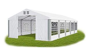 La Company Tente de fête Stable en PVC 560 g/m² 5×10 m Blanc/Gris