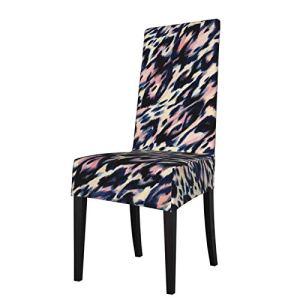 Lilyo-ltd Housse de chaise de salle à manger – Texture léopard – Amovible – Lavable – En élasthanne doux – Extensible – Pour cuisine, maison, hôtel