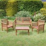 Plant Theatre – Canapé de jardin 2 places en bois dur avec coussin inclus – Superbe qualité