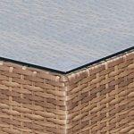 polyrotin Lounge 6pièces avec structure en aluminium de luxe Ensemble de jardin lounge en rotin Siège Groupe Meuble Lounge Siège Groupe jardin Ensemble de salon de jardin Canapé lounge Marron Chiné