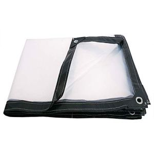 Z-P Bâche Transparente Côté Noir avec Bâche Boutonnière Écran Solaire Multifonctionnel en Plastique Épais Tente Imperméable Tissu Pare-Soleil Pare-Soleil (Taille : 3x6m)
