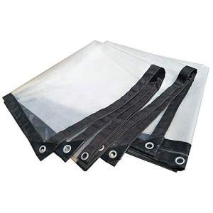 Bâche en Plastique épaississante Transparente imperméable résistante de Tente de bâche, Taille Personnalisable (Color : Clear, Size : 4X8M)
