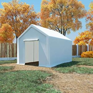 E E-NICES Tente de Rangement PE 3 x 6 m Blanc