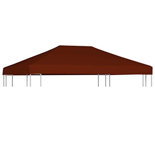 E E-NICES Toile supérieure de Gazebo 310 g/m² 3×4 m Terre Cuite