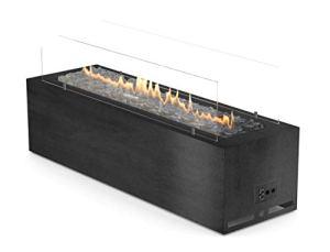 Galio Corten Cheminée d'extérieur à gaz GPL manuel en acier noir (noir automatique)