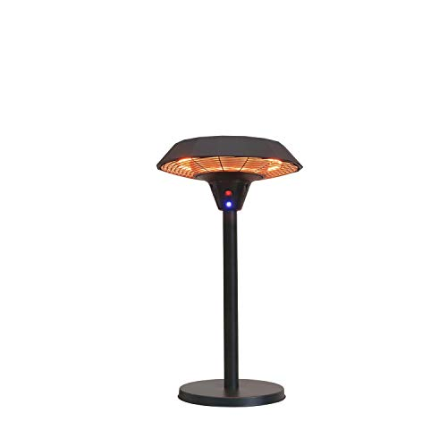 GREADEN – Chauffage de Table Infrarouge Mercury Parasol Chauffant Mobile et Esthétique Radiateur électrique de terrasse à Halogène 2100 W- Extérieur IP44 EU plug